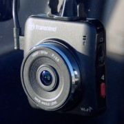 Transcend DrivePro 200 Mounted in a Car