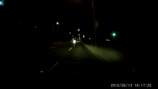 A118 B40 Video Screenshot - Driving down Toronto in Very Dark Conditions