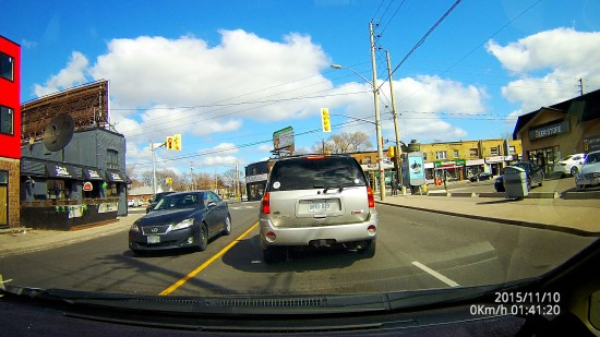 Dome Video Screenshot - Daytime Driving in East Toronto