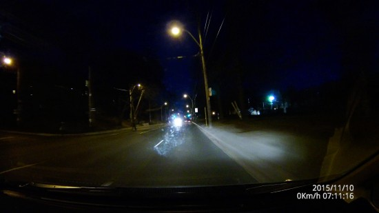 Dome D201 Video Screenshot - Driving down Toronto in Very Dark Conditions