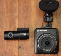 Comparing the size of the Transcend and the Rear camera of the Blackvue DR650GW-2CH